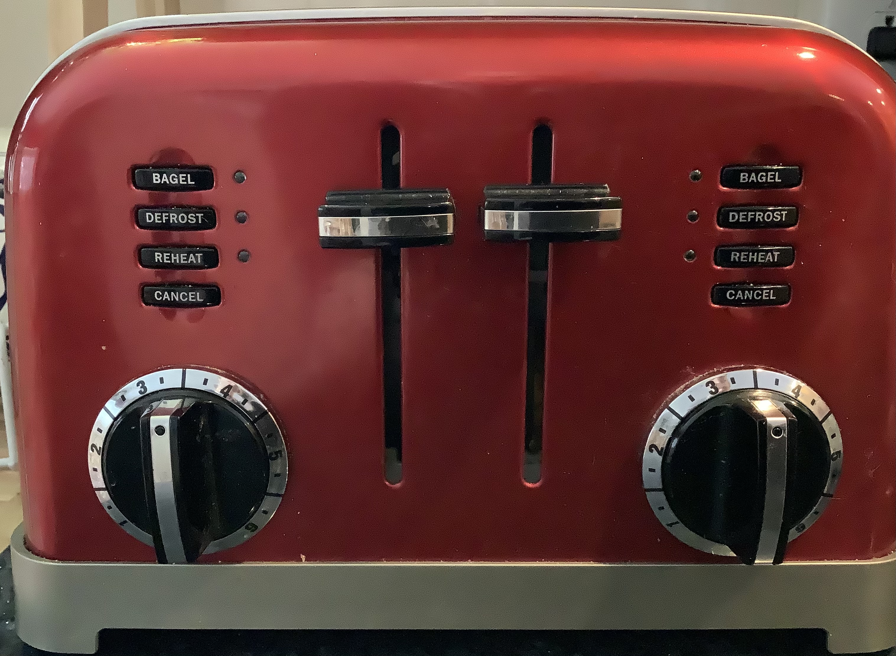 My toaster controls are confusing without glasses